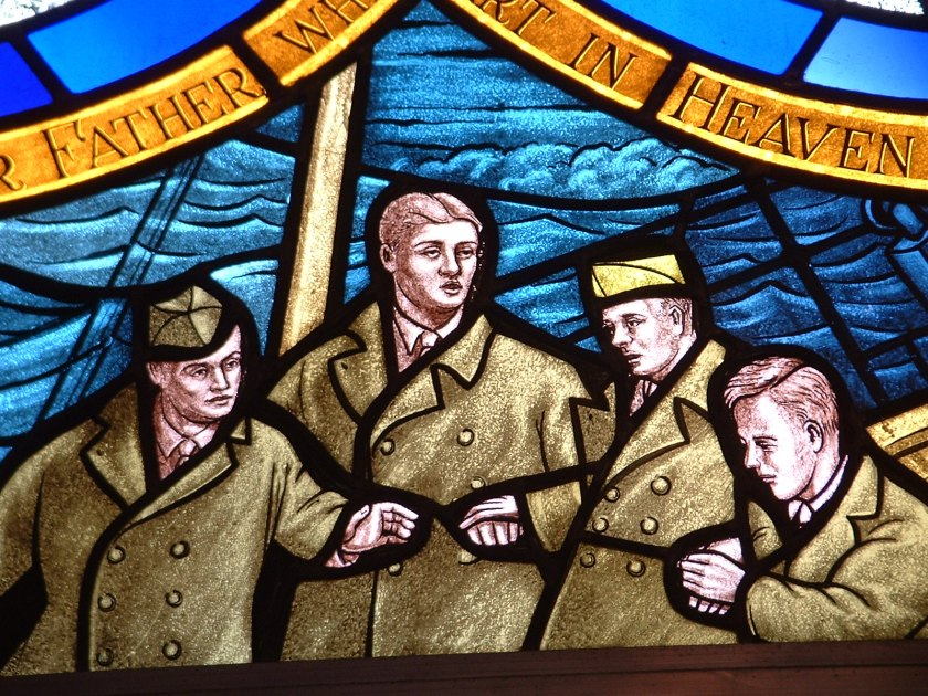 Detail - Four Chaplains Window at Fort Leavenworth
