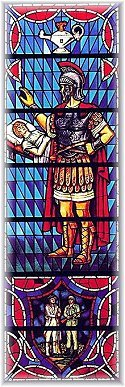 Centurion in Stained Glass, Soldier Memorial Chapel, Fort Leavenworth, KS