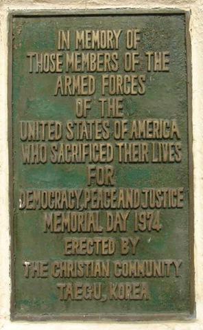 Memorial Day, Korea, 1974