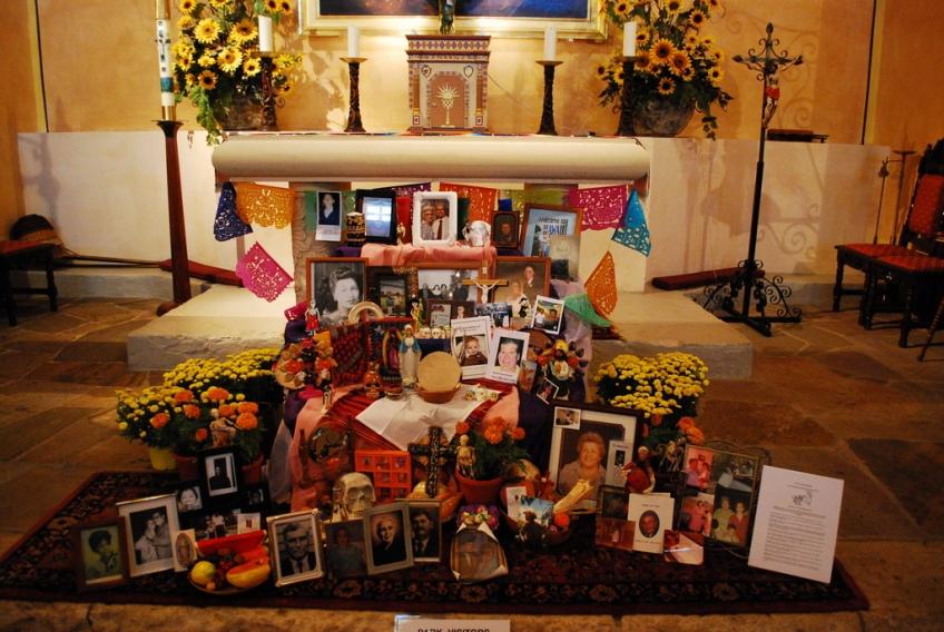 Mission Concepcion Interior - Dias de los Muertos - All Souls Day