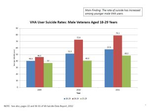VHA User Suicide Rates: Male Veterans Aged 18-29 Years